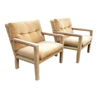 Milo Baughman for Directional Mid-Century Modern Parsons Chairs - a Pair