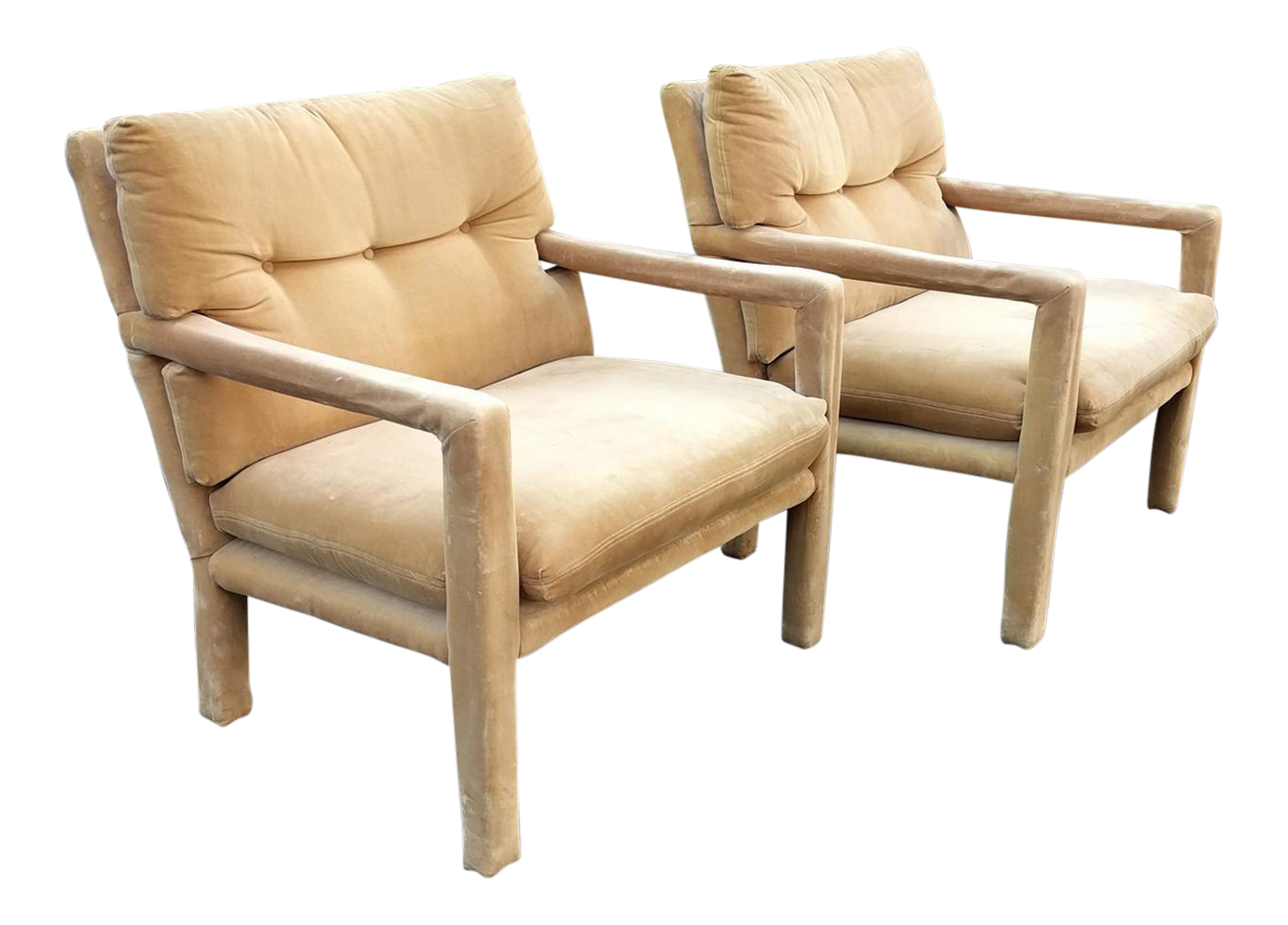 Milo Baughman For Directional Mid Century Modern Parsons Chairs   A Pair
