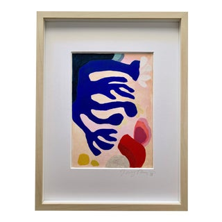 Neicy Frey Abstraction #2 Framed Original Abstract Painting For Sale