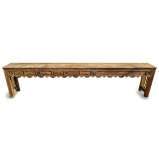 Long Hall Carved Console Table Preview