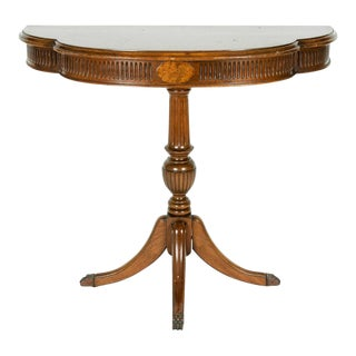 Antique Empire Style Mahogany Demilune Table For Sale