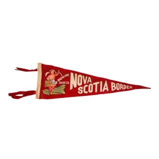 Vintage Nova Scotia Border Felt Flag For Sale