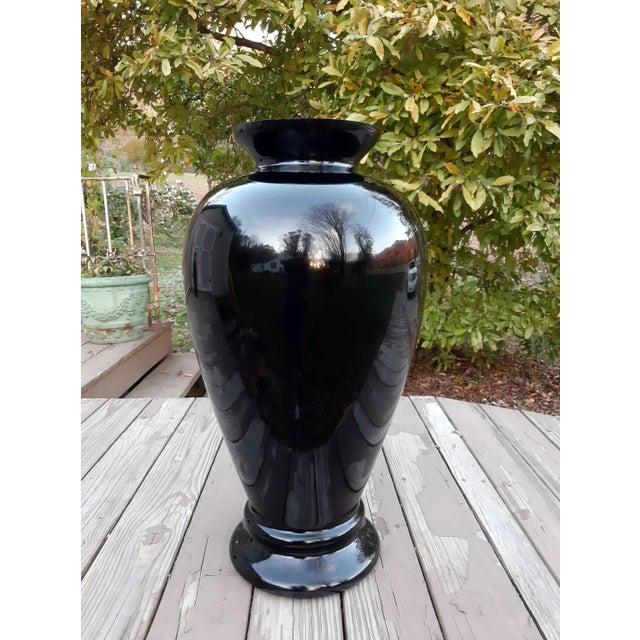 Vintage Pilgrim Masterwork Collection Black Art Glass Vase For Sale - Image 12 of 13