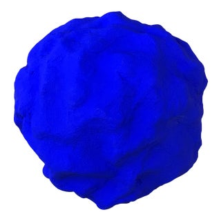 Blue Plaster Spherical Plaster Object For Sale