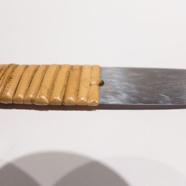 Gray Carl Aubock Cheeseboard with Knife For Sale - Image 8 of 9