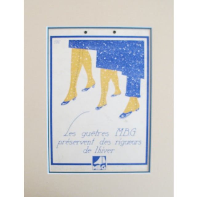 Art Deco French Art Deco Advertising Cartoon For Sale - Image 3 of 3