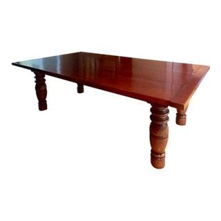 Solid Walnut Elijah Slocum Dining Room Table For Sale