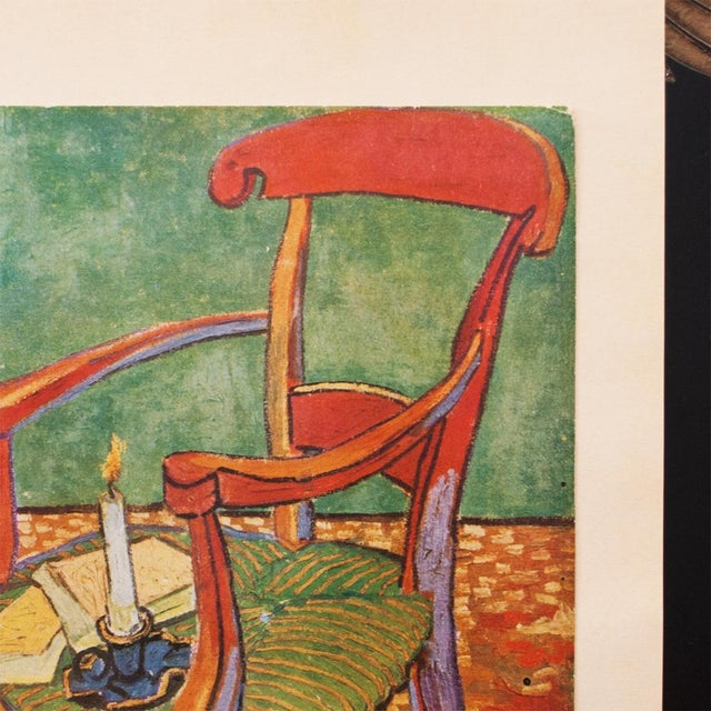 "C.1940s Van Gogh, ""Gauguin's Armchair"" Parisian Lithograph For Sale In Dallas - Image 6 of 11"