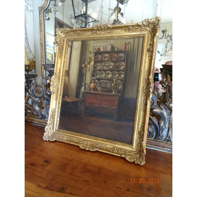 Interior Oil on Canvas For Sale - Image 11 of 12