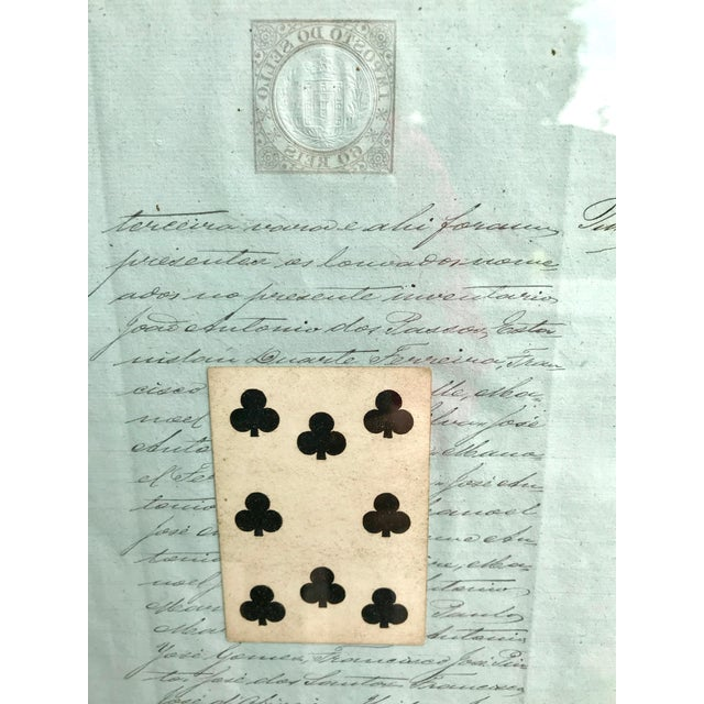 Early 20th Century Early 20th Century Antique French Letters and Playing Card Collage For Sale - Image 5 of 13