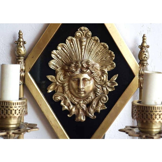 Early 20th-C. Neoclassical Bronze Sconce For Sale - Image 4 of 5