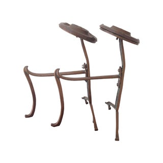 Small Arts & Crafts Andirons - A Pair For Sale