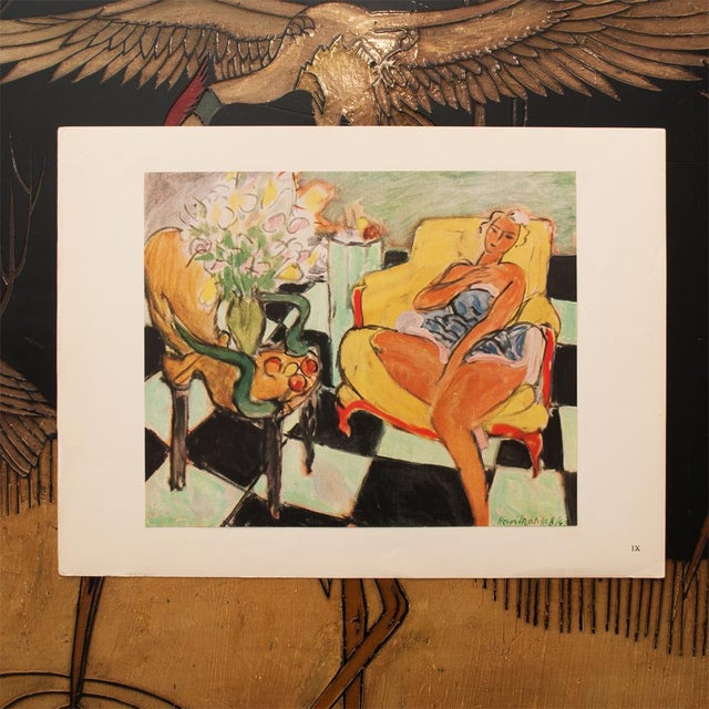 """French 1946 Henri Matisse, """"Dancer Seated on a Chair"""" Original Period Parisian Lithograph For Sale - Image 3 of 8"""