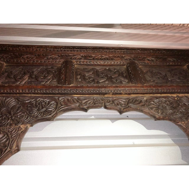 Antique Indian Carved Welcome Gate Teak Arch For Sale - Image 4 of 12