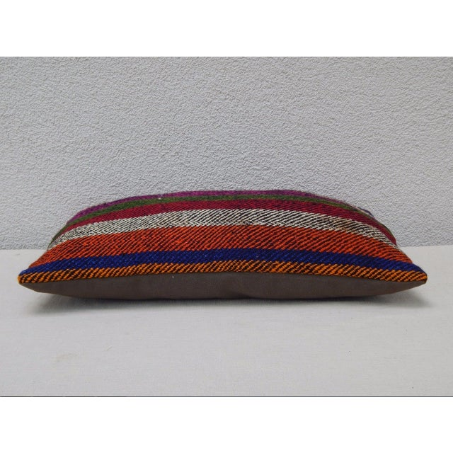 Turkish Kilim Lumbar Pillow For Sale - Image 4 of 6