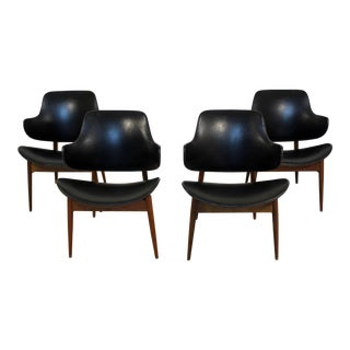 1960s Mid-Century Modern Seymour J. Wiener Kodawood Dining Chairs - Set of 4