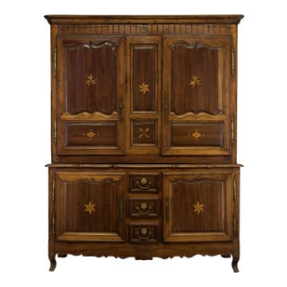 18th Century Antique French Louis XV Cupboard For Sale