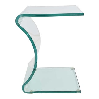 L. Fife Signed Glass Side Table For Sale