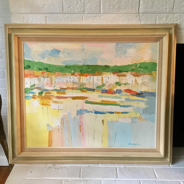 Mediterranean Marina by George Barrel For Sale - Image 13 of 13