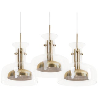 Set of Three Crystal Pendant by Anders Pehrson for Atelje Lyktan For Sale