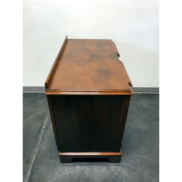 Early 20th Century Burl Walnut Block Front Bachelor Chest of Drawers - Image 6 of 11