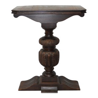 Antique Re-Purposed Carved Mahogany Wall Console / Plant Stand C.1900 For Sale