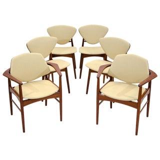 Set of Six Danish Teak Dining Chairs, Arne Hovmand Olsen For Sale