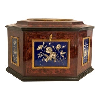 Antique French Jewel Box Made by Tahan of Paris, Boxmaker to Napoleon III For Sale