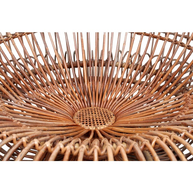 Bamboo Franco Albini Bamboo Sculptural Lounge Chair For Sale - Image 7 of 13