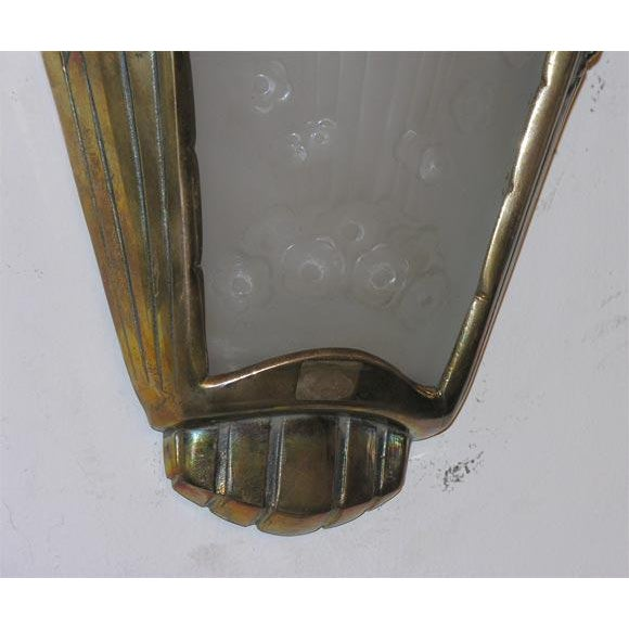 Art Deco French Art Deco Wall Sconces by Muller Frères For Sale - Image 3 of 4