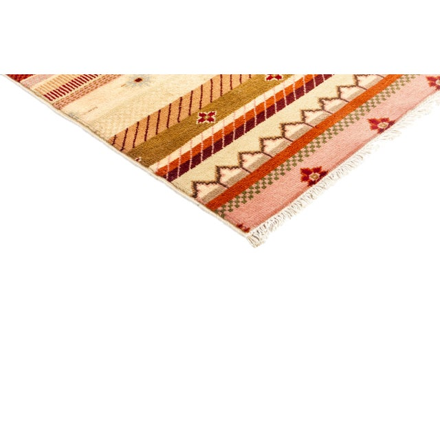 """Striped Hand Knotted Area Rug - 2'1"""" X 2'1"""" - Image 2 of 3"""