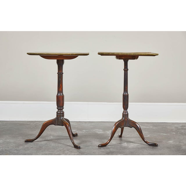 A pair of early 19th century Swedish pedestal tilt-top side tables.