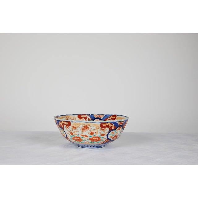 Japanese Early 20th Century Japanese Imari Scalloped Bowl For Sale - Image 3 of 11
