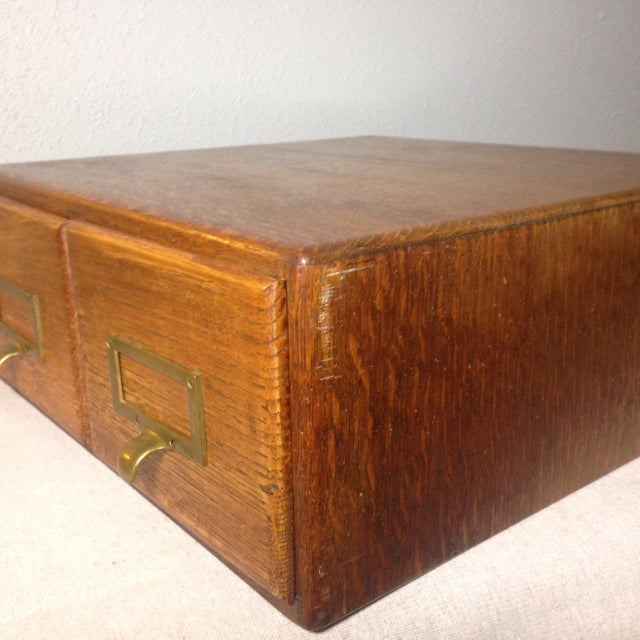 Gold Early Twentieth Century Wooden Library Card Catalog For Sale - Image 8 of 13