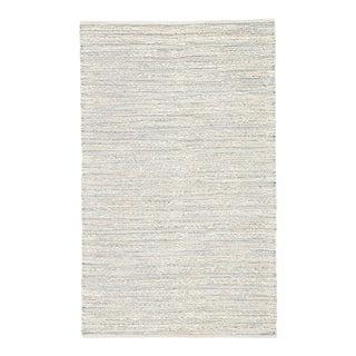 "Jaipur Living Canterbury Natural Stripe White/ Blue Area Rug - 9'6"" X 13'6"" For Sale"