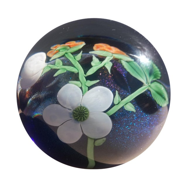 Orient Flume Crystal Cased B Sillars Paperweight - Image 1 of 11