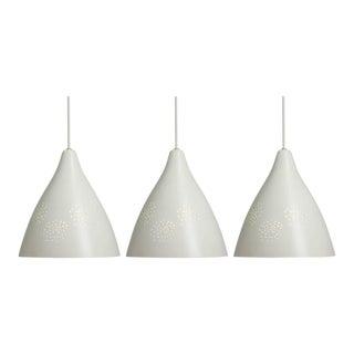 Lisa Johansson-Pape White '270' Perforated Metal Pendants