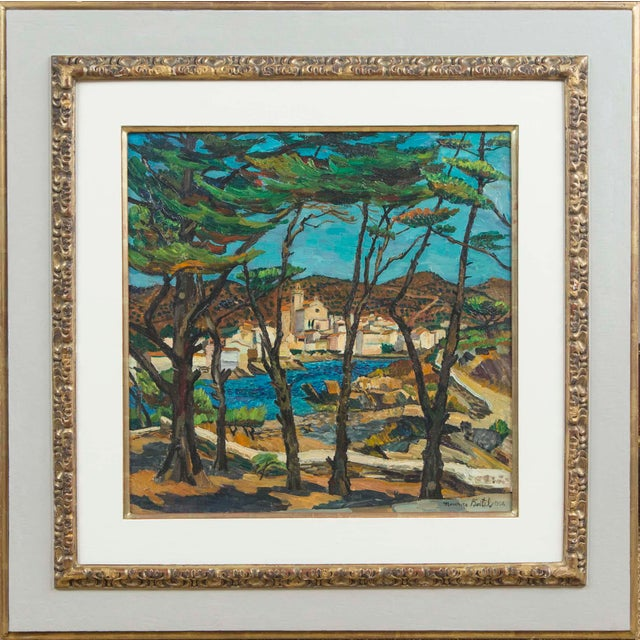 Expressionism Mid Century Oil Painting on Canvas by Listed Artist Circa 1964 For Sale - Image 3 of 6