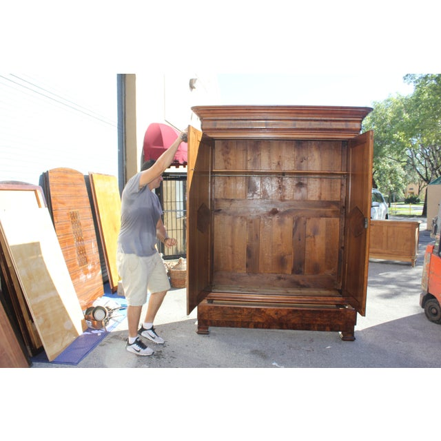 19th Century French Louis Philippe Walnut Armoire Period Chateau Circa 1850s - Image 3 of 11