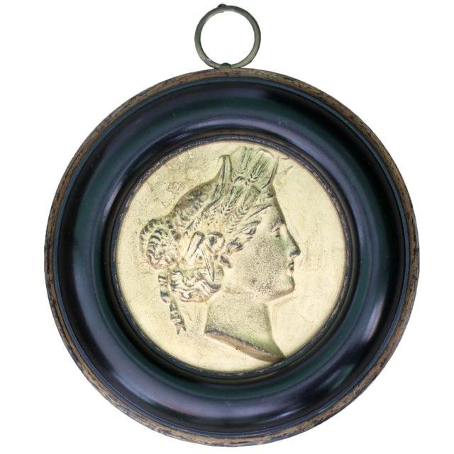 French Framed Gilt Medallions- Set of 4 - Image 3 of 8