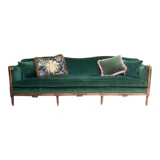 Early 20th C. French Empire Style Green Sofa