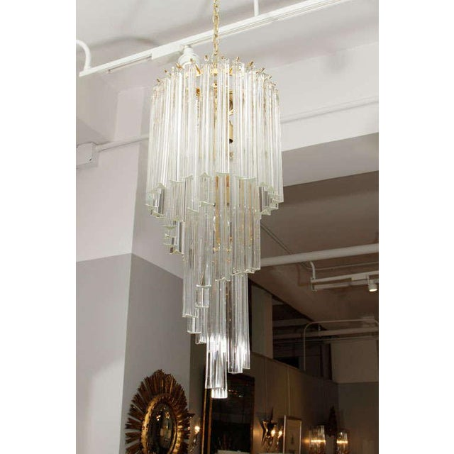 Murano Glass Foyer Chandelier For Sale - Image 4 of 9