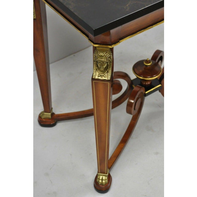 Empire 20th Century French Empire John Widdicomb Figural Bronze Mounted Occasional Lamp Table For Sale - Image 3 of 12