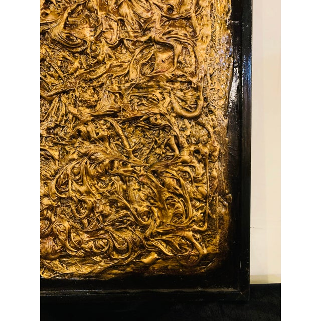Harald Marinius Olson Untitled Abstract With Gold Acrylic on Canvas For Sale - Image 4 of 13