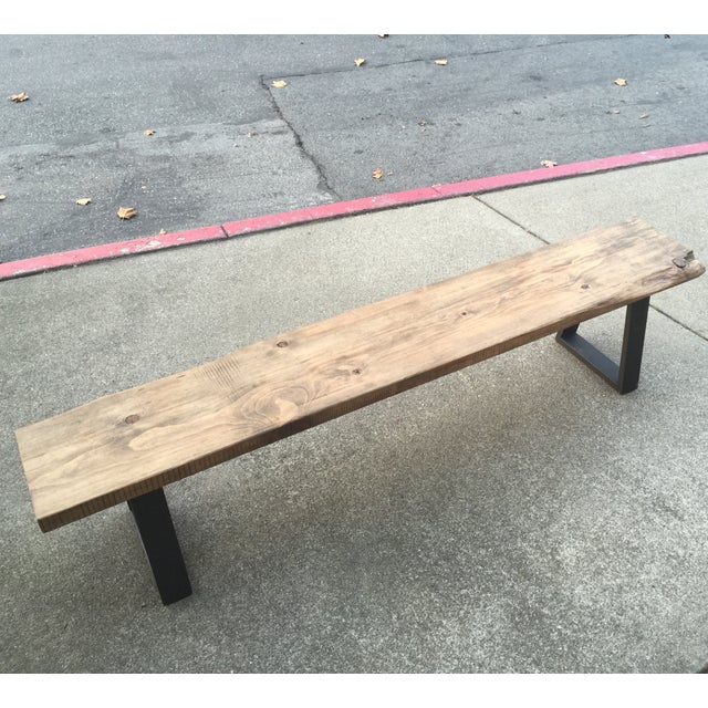Excellent Rustic Modern Bench With Live Edge Evergreenethics Interior Chair Design Evergreenethicsorg