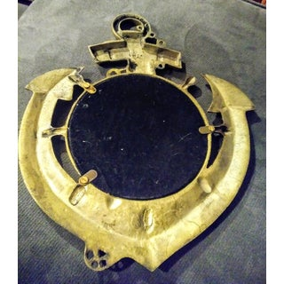 Vintage Brass Small Anchor Nautical Wall Mirror Preview