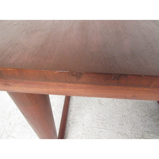 Sculptural Mid-Century Modern Drop-Leaf Writing Desk For Sale - Image 11 of 12