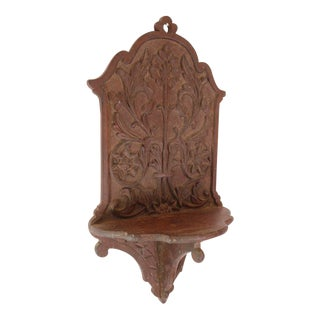 Antique Colonial Santos Altar Wall Bracket, 19th Century Portuguese Ceylonese Victorian Sri Lankan For Sale