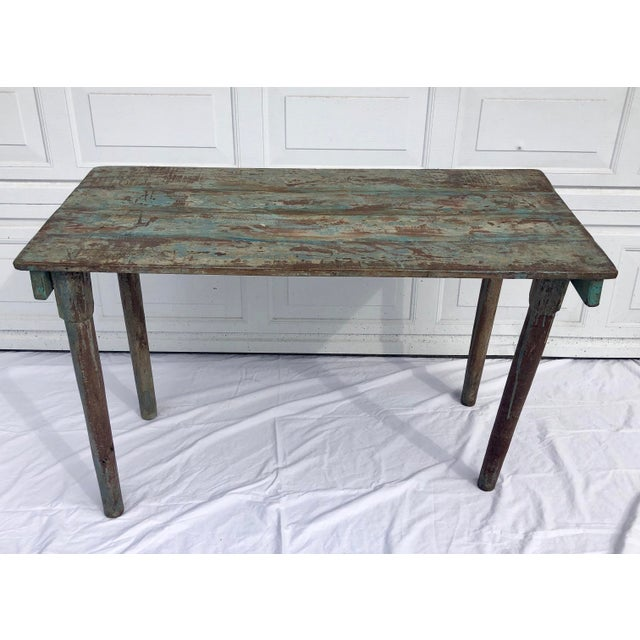 Turquoise Blue Indian Wedding Table For Sale - Image 8 of 8