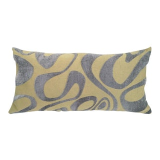 Mod Velvet Swirl Rectangular Pillow For Sale